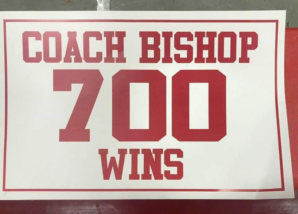 Coach Bishop hits 700 Career Wins!!!